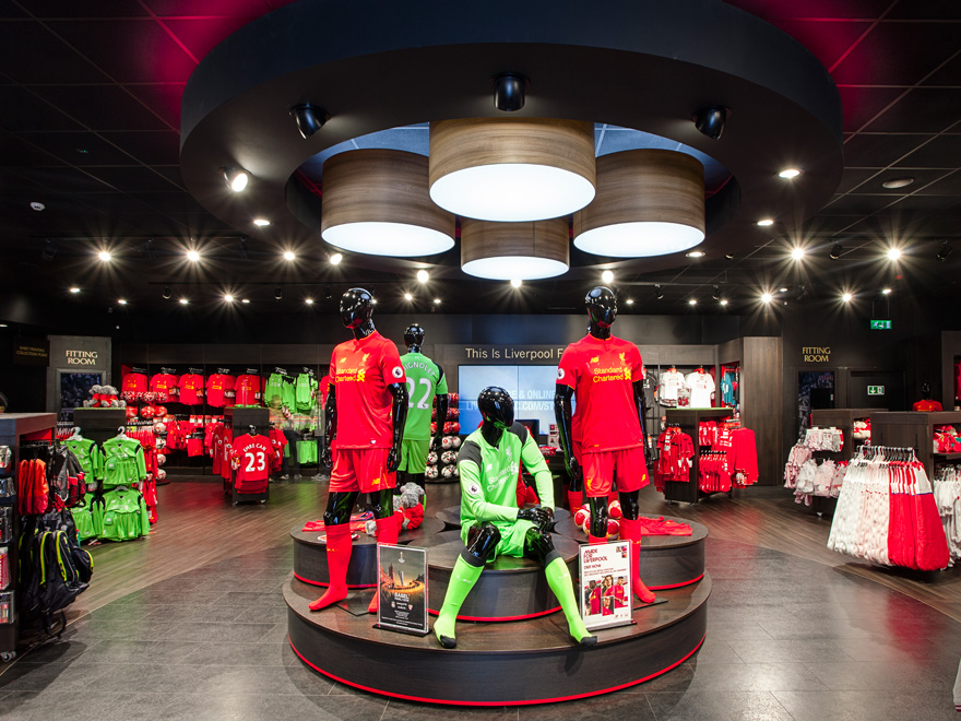 Liverpool FC Club Shop Completed Project