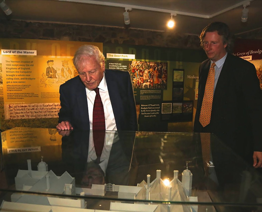 david attenborough looks around bradgate park visitor centr